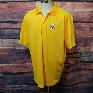 Steelers button down Polo Nike shirt
